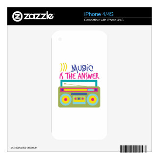 Music Is Answer iPhone 4S Skin