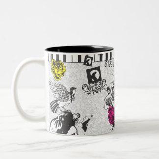 Music Is Art Two-Tone Coffee Mug