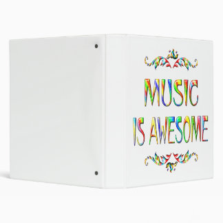 Music is Awesome Binder