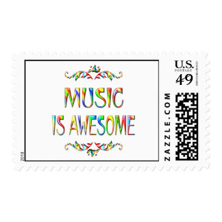 Music is Awesome Postage