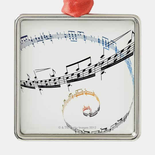 Music is Based on Fanataisie Metal Ornament