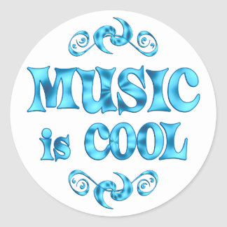 Music is Cool Classic Round Sticker