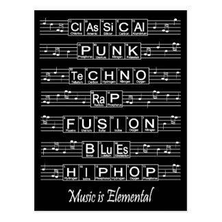 Music Is Elemental Postcard