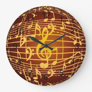 Music is Everywhere - Musical Symbols Large Clock
