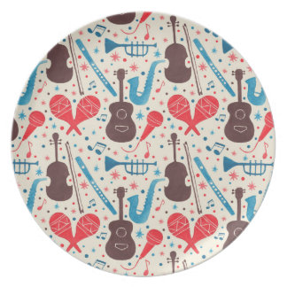 Music is Everywhere Pattern Dinner Plate