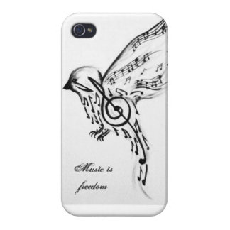 Music is freedom iPhone 4 cover