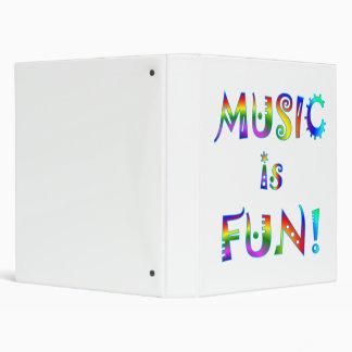 Music is Fun 3 Ring Binder
