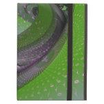 Music is green geometry iPad folio cases