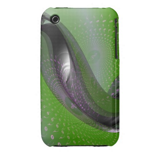 Music is green geometry iPhone 3 covers
