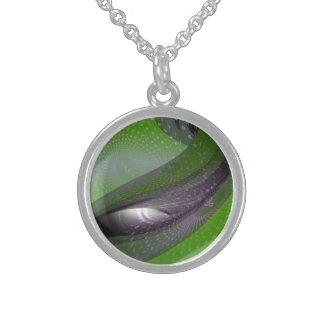 Music is green geometry pendant