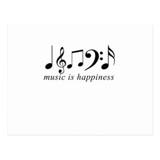 Music is Happiness Postcard