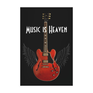 Music is Heaven Deluxe 36 x 24 Canvas Print