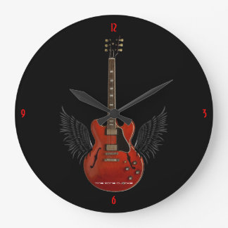 Music is Heaven Large Wall Clock
