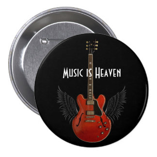 Music is Heaven Metal Button