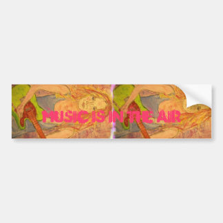 music is in the air car bumper sticker