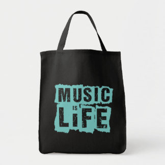 Music is Life! Tote Bags