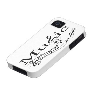 Music is Life (black) Case-Mate iPhone 4 Covers