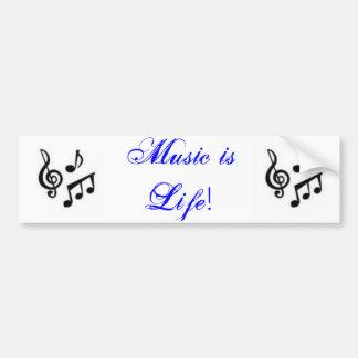 Music is Life! Car Bumper Sticker