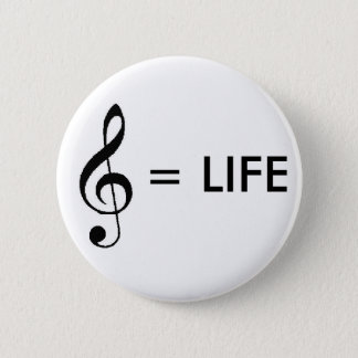 """""""Music is Life"""" Button"""