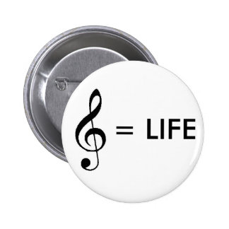 """Music is Life"" Button"