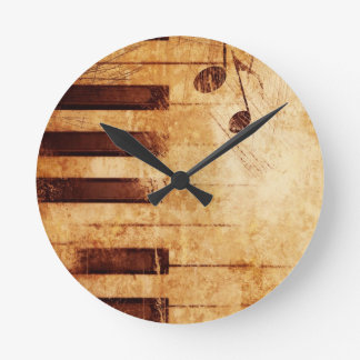 Music is Life Round Wall Clocks
