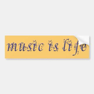 music is life copie car bumper sticker