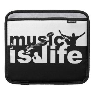MUSIC IS LIFE custom laptop / iPad sleeve