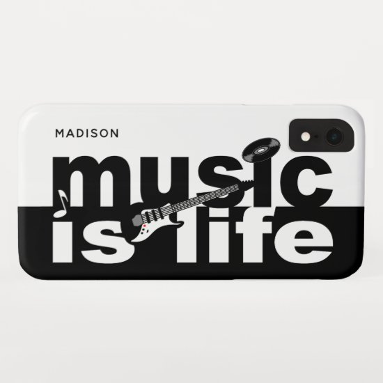 Music Is Life custom name phone cases