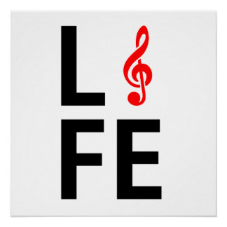 Music is life illustration. perfect poster