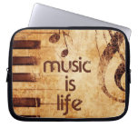 Music is Life Laptop Sleeve