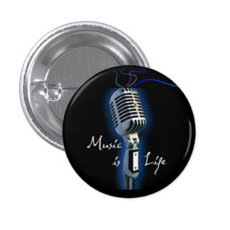 Music Is Life - minibutton Button