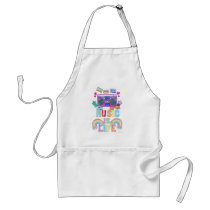 Music is Life Motto Adult Apron