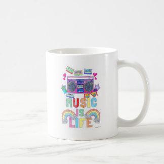 Music is Life Classic White Coffee Mug