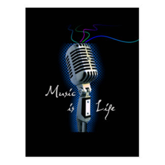 Music is Life Post Cards