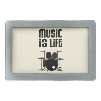 Music Is Life Rectangular Belt Buckle