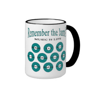 Music is LIFE (Remember The Jams?) Ringer Coffee Mug