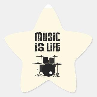Music Is Life Star Sticker