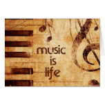 Music is Life Stationery Note Card