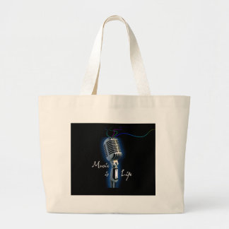 Music is Life Tote Bags