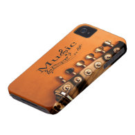 Music is Life with Guitar Machine Head iPhone 4 Case-Mate Case