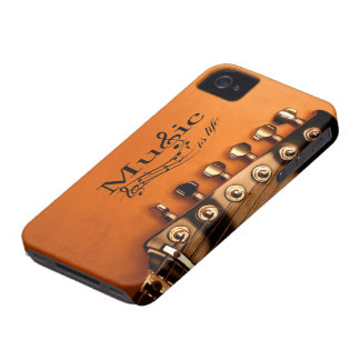 Music is Life with Guitar Machine Head iPhone 4 Case