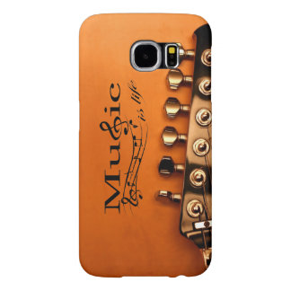 Music is Life with Guitar Machine Head Samsung Galaxy S6 Cases