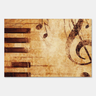 Music is Life Yard Sign
