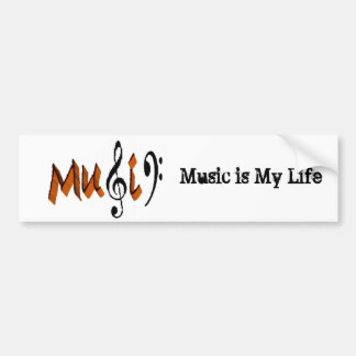 Music is Love Bumper Sticker