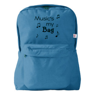 Music is my Bag funny pun Backpack