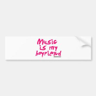 Music Is My Boyfriend Bumper Stickers
