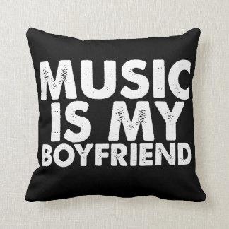 Music Is My Boyfriend Pillow