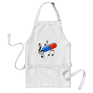 Music is My Drug! Adult Apron