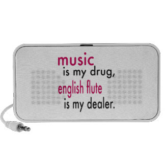 Music Is My Drug English Flute Is My Dealer iPhone Speakers