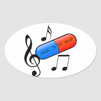 Music is My Drug Stickers